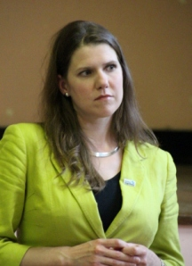 Jo Swinson Wearing an Elegant geogian ..